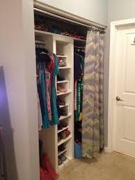 replacing closet door with curtain tracks