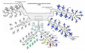 atlanta international airport map atl in 1980 the year skies