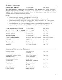 Academic Resume Best Ideas Of Sample Academic Resume In Proposal Austsecure Com