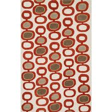 Orange Area Rug With White Swirls Area Rugs Shape Square Goingrugs