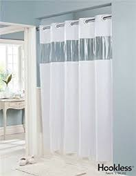 Hookless Shower Curtain Liner Amazon Com Vision Vinyl Shower Curtain Hookless White With