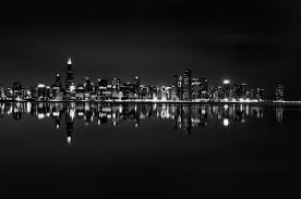 chicago skyline black and white wallpaper high resolution