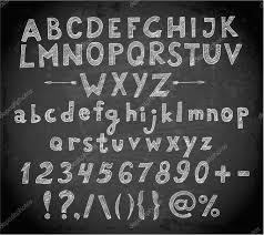 doodle sketch font on blackboard u2014 stock vector elinacious 50402453