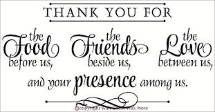 thank you for food friends love wall decal stickers kitchen wall