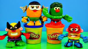 Potato Head Kit Disguise Play Doh Marvel Potato Head Mashable Superheroes Spiderman
