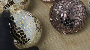 Copper Gazing Ball Mirror Mosaic Decor Decoration Balls Spheres Orbs Disco Collage