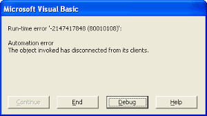 vba run time automation error vbforums