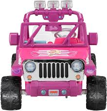 power wheels jeep frozen fisher price power wheels barbie deluxe jeep wrangler amazon ca