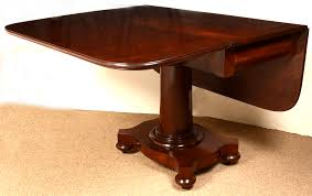 Mahogany Drop Leaf Table Antique American Mahogany Drop Leaf Table Pedestal Base Breakfast