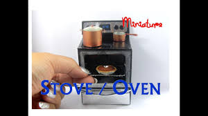 modern stainless steel stove oven dollhouse furniture miniature