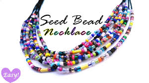 make seed bead necklace images Seed bead necklace easy jpg