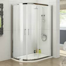 Bathroom Shower Trays by 900 X 760 Left Quadrant 6mm Sliding Glass Shower Enclosure With