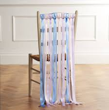 chair ribbons wedding chair ribbons in summer pastels by just add a dress
