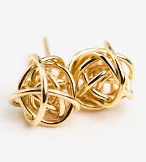 knot earrings knot stud earrings jewelry earrings grasso