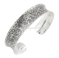 antique sterling silver cuff bracelet images Latest traditional antique oxidised hallmarked floral 925 sterling jpg