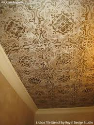 Ceiling Tile Painting Ideas by 197 Best Stenciled And Painted Ceilings Images On Pinterest