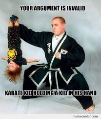 Meme Karate - karate kid holding a kid by ben meme center