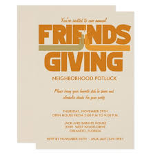 friendsgiving thanksgiving invitation zazzle