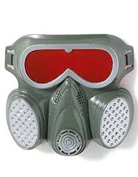 Gas Mask Halloween Costume Amazon Biohazard Zombie Grey Red Halloween Costume Gas