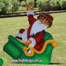 Outdoor Christmas Decorations In Australia by Bright Design Section 01 Santa Sleigh Outdoor Christmas Displays