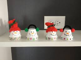 mini flower pot snowman my creations pinterest snowman and