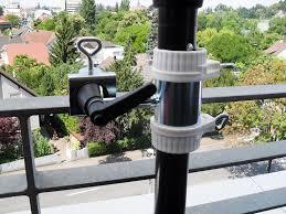 sonnenschirmhalter balkon 2 x edelstahl halterung bis ø 40 mm für schirmstöcke 25 5 mm bis
