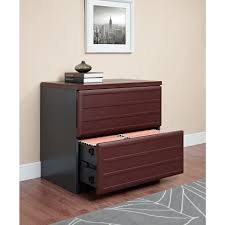 Wood Lateral File Cabinets For The Home by Altra Furniture Pursuit Cherry And Gray File Cabinet 9522196 The