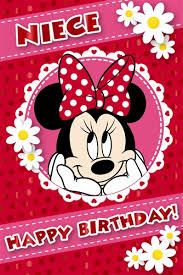 minnie mouse happy birthday niece card buy birthday cards for niece