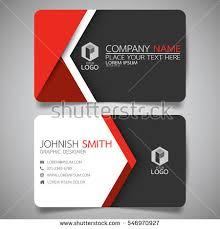 modern creative business card name stock vector 546970927