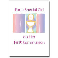 for a special on communion communion card