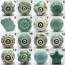 Beautiful And Charming Hand Painted Ceramic Cabinet Knob This