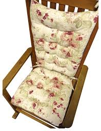 Rocking Chair With Cushions Shabby Chic Rose Rocking Chair Cushions