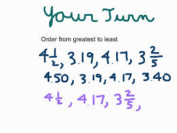 Fractions Decimals And Percents Worksheets 6th Grade Ordering Decimals Fractions And Mixed Numbers Youtube
