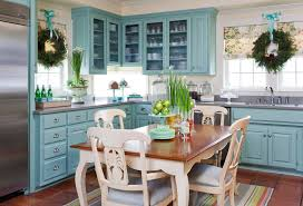 Blue Countertop Kitchen Ideas Country Blue Kitchen Ideas To Complement Country House Style