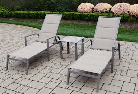 Padded Lawn Chairs Oakland Living 3 Piece Padded Sling Chaise Lounge Set U0026 Reviews