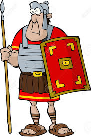 legionnaire on a white background royalty free cliparts vectors