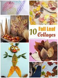 10 leaf collages for kids