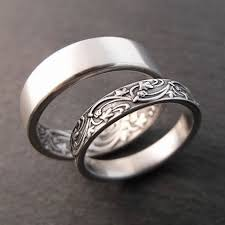 silver wedding band womens wedding band set womens wedding ring set mens wedding band