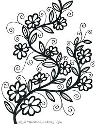 printable coloring pages of pretty flowers flower printable coloring pages color page flower medium size of
