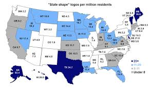 State By State Map Of Usa by The State Of Logos U2013 Emblemetric