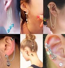 cool earring cool earrings and cuffs beautify themselves with earrings