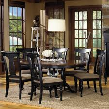Black Dining Room Hutch by 7 Piece Round Dining Room Set