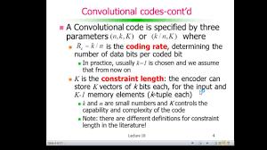 codificação de canal códigos convolucionais convolutional codes