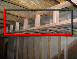 How To Build A Wall In A Basement by To Frame Around The Duct Work In Basements
