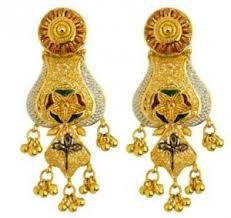 kerala earrings earrings bombay enamel design kj 186 earring online kerala