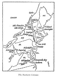 Map Of The New England Colonies by The Battles That Changed History By Fletcher Pratt