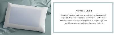 Tempurpedic Comfort Pillow Amazon Com Tempur Cloud Breeze Dual Cooling Pillow King By Tempur
