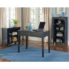 Computer Desk With Bookcase by Alaterre Furniture Shaker Cottage Black Open Bookcase Asca07bl