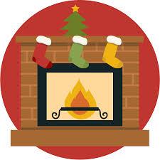 free cute christmas fireplace clip art clipartix