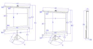 tripod b series portable projector screens elite screens